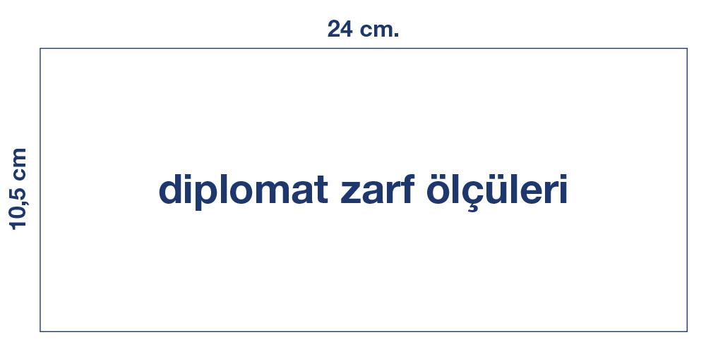 diplomat zarf örnek tasarım, diplomat zarf ölçüleri